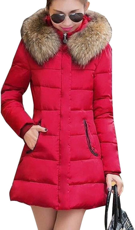 Jxfd Women Hoodie Packable Long Sleeve Faux Fur Hoode Padded Coat Jacket