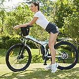 E-Bike Faltrad Elektrofahrrad E-Mountainbike, 26 Zoll Fahrrad Herren Damen mit Pedelec mit 250W Motor 8Ah-36V Abnehmbar Lithium Akku für eine Reichweite von 25-60km Professionelle 21-Gang (Weiß)