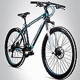 Bergsteiger Canberra 26 Zoll Mountainbike, geeignet ab 160 cm, Scheibenbremsen, Shimano 21...