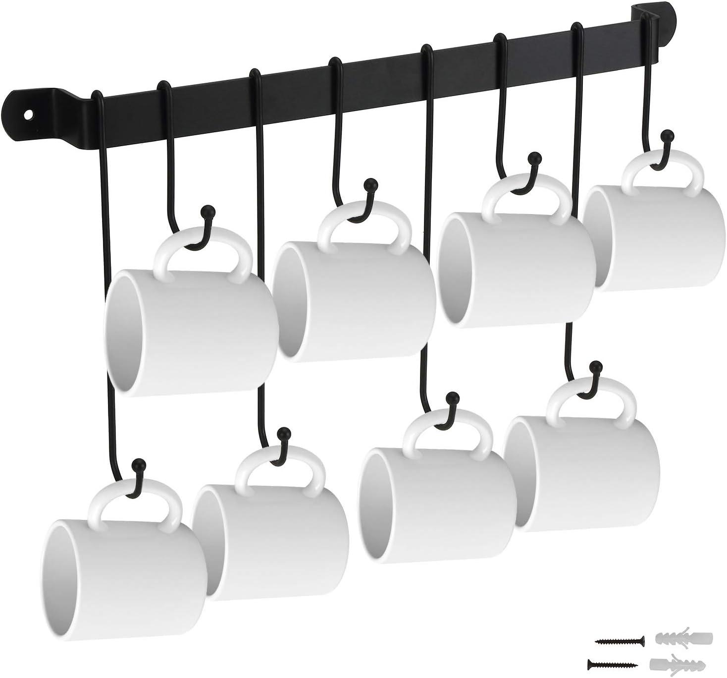 Suwimut Sale price Coffee Mug Rack 5 popular Cup Hangers Holder Wall Org Mounted