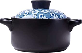 ZMYC Stew Pot Kitchen Pot Clay Casserole Pot Terracotta Stew Pot Ceramic Casserole Clay Cooking Pot - Durable, Saving Time...