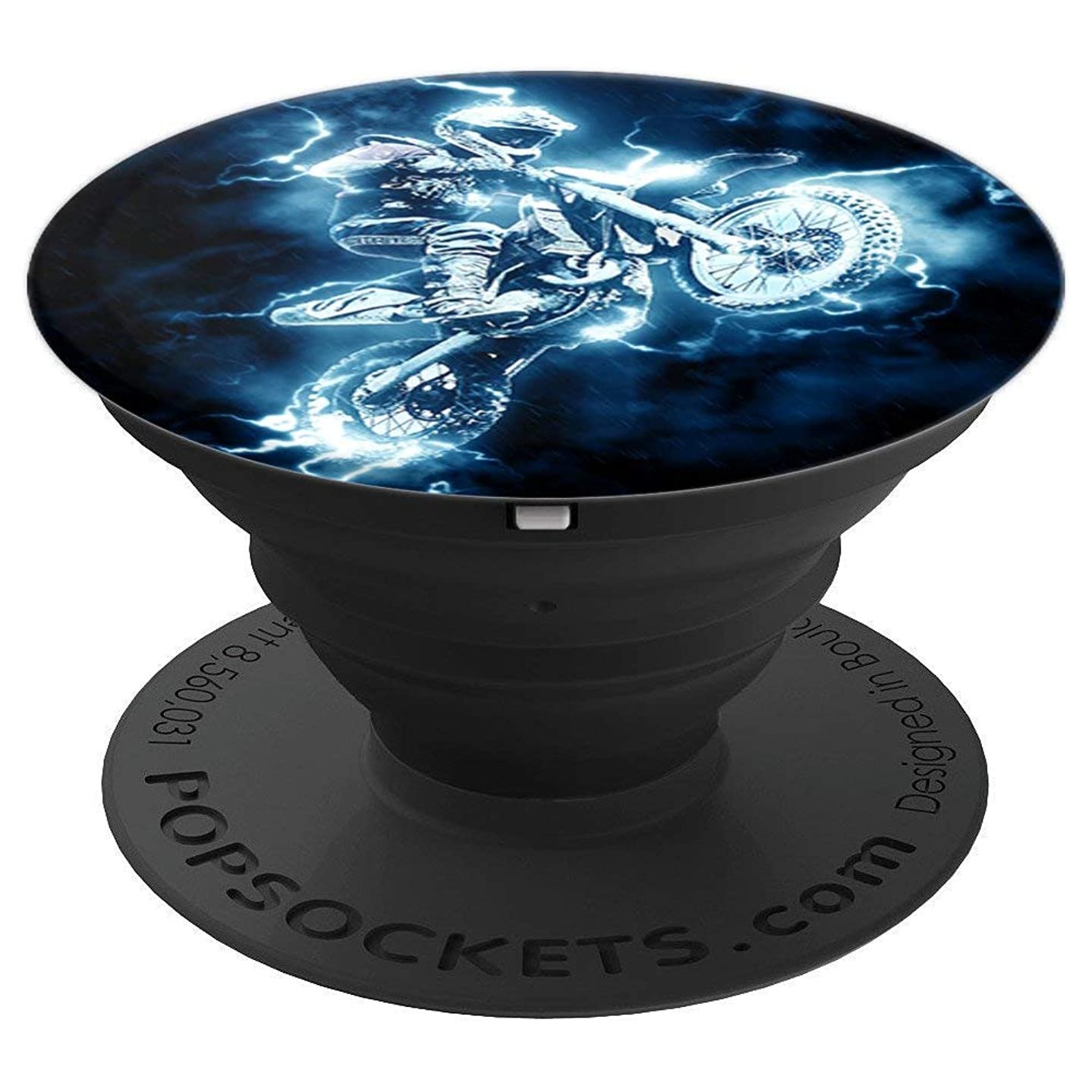 Motocross Flashy Cyclist Stunt Sport - PopSockets Grip and Stand for Phones and Tablets
