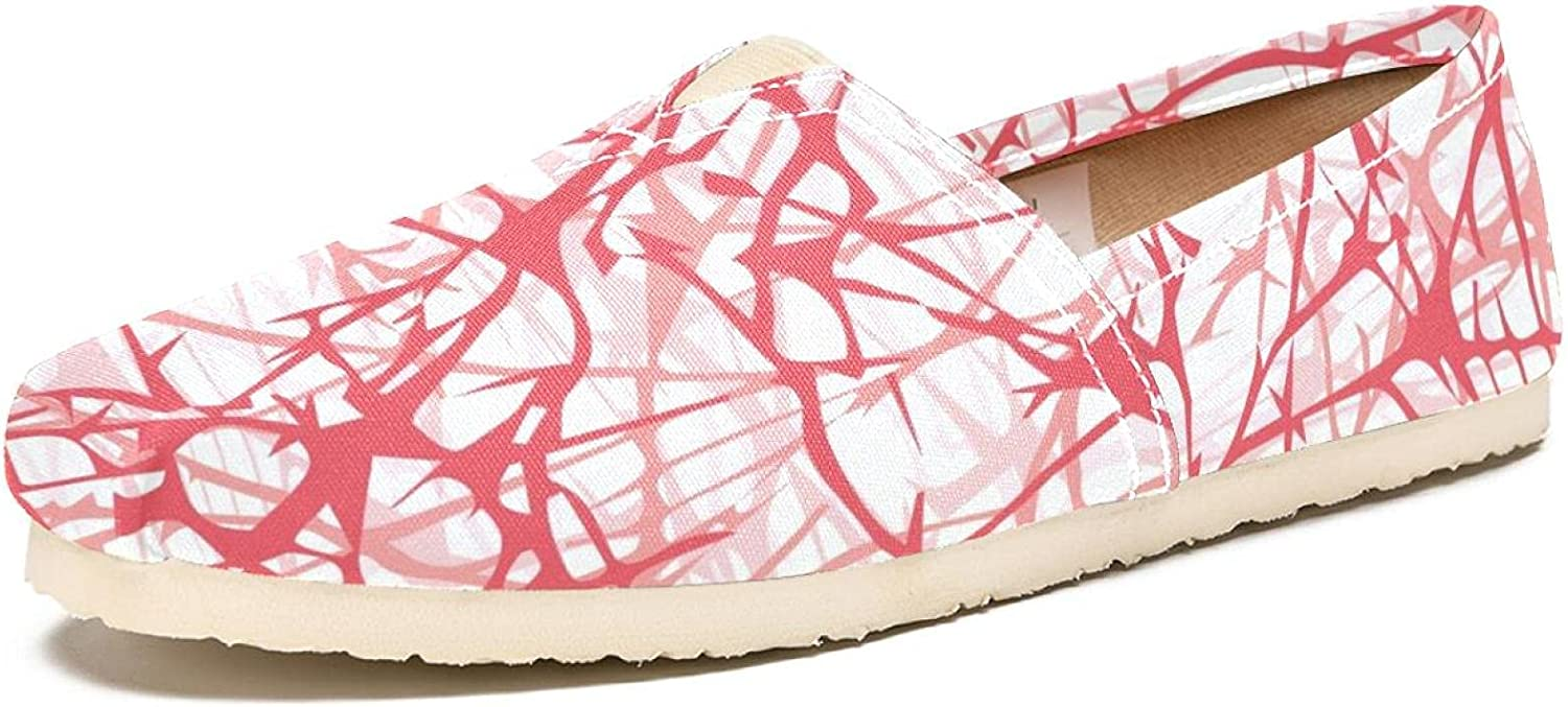 Women's Shoes Canvas Fashion Pink Abstract low-pricing Travel Scratch Max 64% OFF