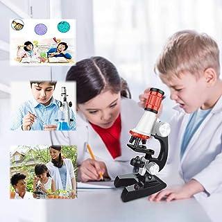 Beginner Microscope Kit, Souqgreen Early Education Kids 1200X Adjustable Focus Microscope w/Specimen Kit Toy