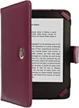 TECHGEAR Purple Kindle PU Leather Folio Case Cover With Magnetic Clasp made for Amazon Kindle eReader & Kindle Paperwhite with 6 inch Screen [Book Style]