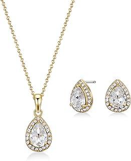 MESTIGE Women Crystal Golden Amina Set with Swarovski Crystals