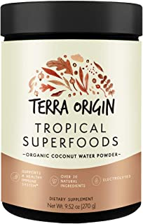 Terra Origin, Tropical Superfoods, Powder, Organic Coconut Water, 30 Servings, Over 20 Natural Ingredients, Antioxidants &...