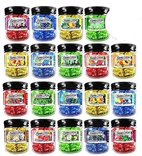 12 Jars - 100% Tobacco & Nicotine Free Beamer Ice Drops Gel Hookah Shisha Vapor 4 Real Hookah. 2 Hours + Per Head. + Beamer Smoke Limited Edition Sticker
