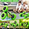 Remote Control Car, ORRENTE RC Cars Stunt Car Toy, 4WD 2.4Ghz Double Sided 360° Rotating RC Car with Headlights, Kids Xmas Toy Cars for Boys/Girls (Green) #3