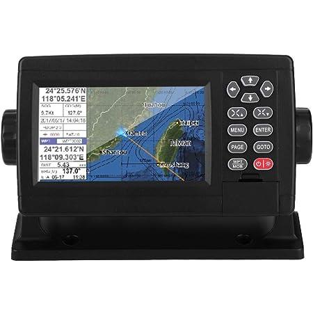 GPS marino Qiilu, navegador GPS satelital marino de 5 pulgadas, pantalla LCD en color, XF-520, trazador de cartas de barco de posicionamiento de modo dual