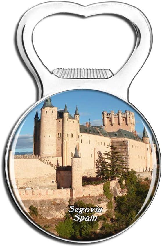 Weekino España Alcazar Castillo Segovia Imán de refrigerador Cerveza Abrebotellas Ciudad Viajar Recuerdo Colección Etiqueta engomada Fuerte del refrigerador