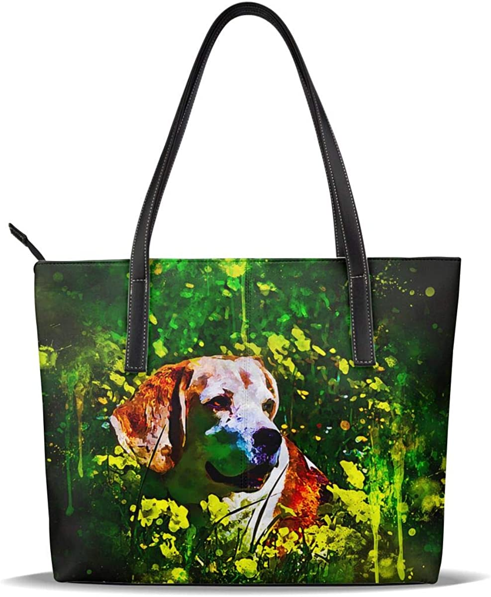 Art Beagle Dog Funny Purchase Cute Painting Printed PU Pattern Limited price Ca Leather