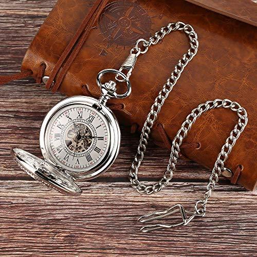 SHKUU Reloj Bolsillo Vintage Exquisito Principito Diseño Blue Planet Collar Reloj Cadena Regalos para Navidad Cumpleaños/Día Aniversario