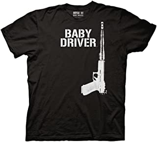 190d16fe86f Ripple Junction Baby Driver Gun with Car Poster One Color Adult T-Shirt