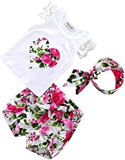 MagiDeal Baby Girl Clothes Set Romper Jumpsuit Tutu Dress Clothing Set With Headband