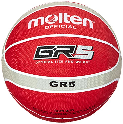 Molten Official Red/Silver Rubber Basketball - Size 5