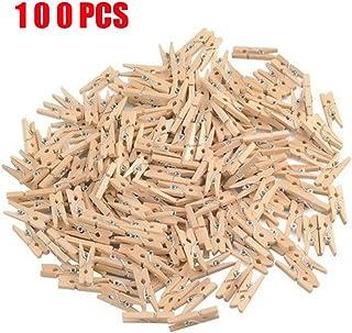 "GCA DIY Wooden Pins for Scrapbooking Wood Crafts, Mini Clothespins 100 Per Pack 1"""