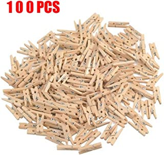 GCA DIY Wooden Pins for Scrapbooking Wood Crafts, Mini Clothespins 100 Per Pack 1