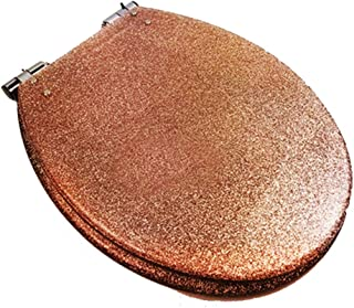 Glitter Toilet Seat Resin Bathroom Soft Slow Close Hinge Toilet Lid Cover (Color : #1)