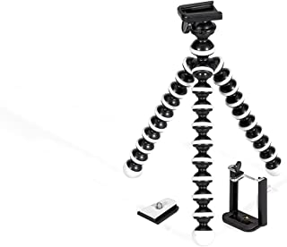 GPX 10 Inch Mini Smartphone Tripod, Includes Smartphone Adapter and Mounting Adapter, Max Height 9.84 Inches (TPD108B)