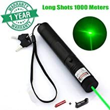 Green Light Pointer High Power Visible Beam with Adjustable Focus for Hunting Hiking.