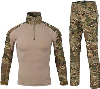 8fc04383c4840d YuanDian Uomo Tattico Esercito Mimetici Uniforme Set Tuta Maniche Lunghe  Caccia Camicie Magliette Combat Pantaloni Escursionismo