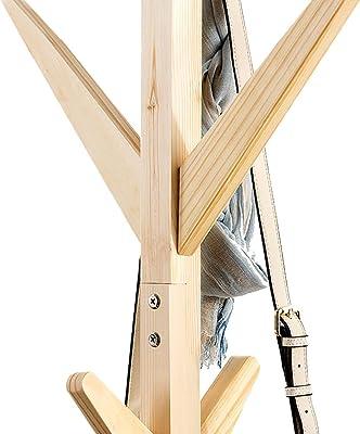 Amazon.com: Percha de madera maciza para colgar ropa de ...