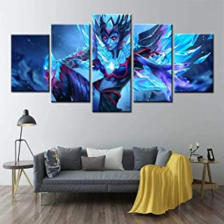 BAOJIAN 5 canvas prints Vengeful Spirit poster 5 PanelsPicture Canvas Paintings Bedroom Living Room Home Wall Art Decor5 P...