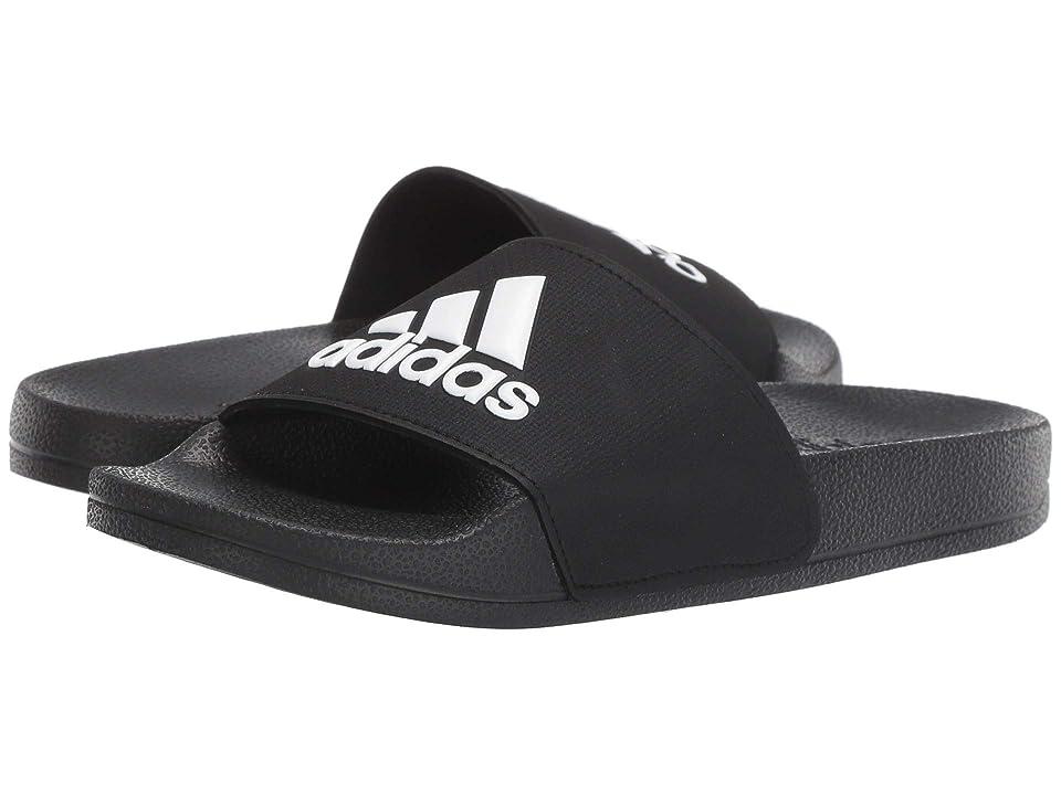 adidas Kids Adilette Shower Slide (Toddler/Little Kid/Big Kid) (Core Black/Footwear White/Core Black) Kids Shoes