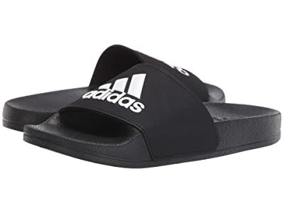 adidas Kids Adilette Shower Slide (Toddler/Little Kid/Big Kid) (Core Black/Footwear White/Core Black) Kids Shoes