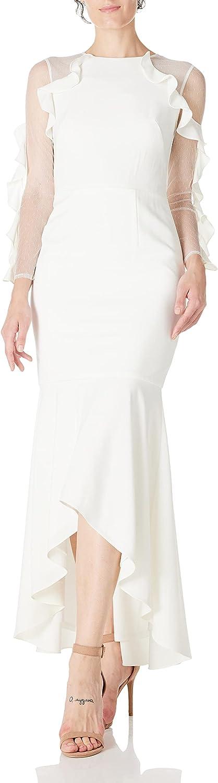 Social Graces Women's Scoopneck Sequin Lace Bodice Evening Gown 4 Champagne