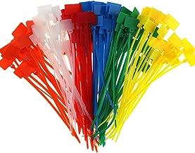 Xigeapg White Attache-Cable 100pcs De Type Selle De Base Dattache De Cable De Largeur De 4,5mm
