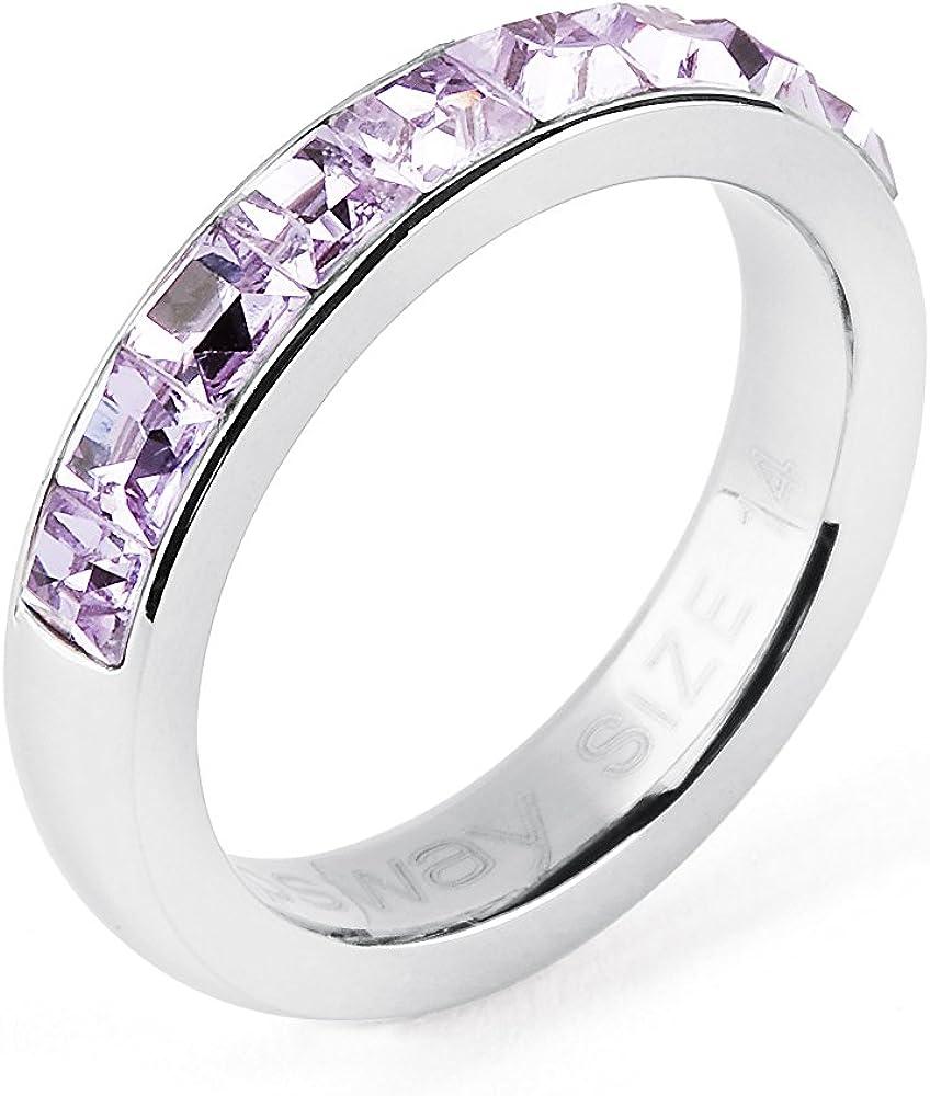 Brosway - desiderio - anello per donna in acciaio e swarovski BTGC45