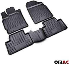 OMAC USA Complete Set Custom Fit All-Weather 3D Molded Black Rubber Floor Mat for Mazda CX-7 2007-2012