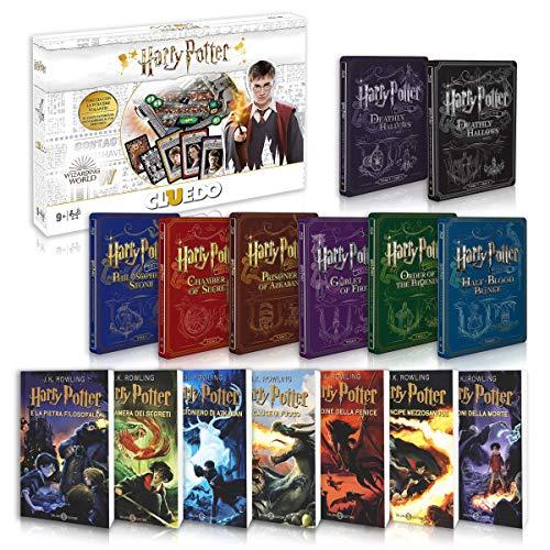 Harry Potter La Saga Completa Libri 1-7 + Steelbook 1-8 + Cluedo