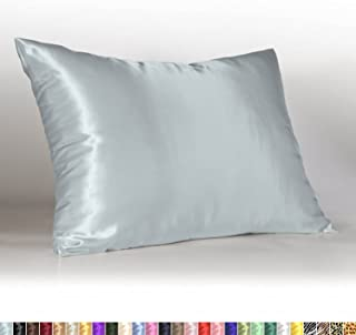 Shop Bedding Luxury Satin Pillowcase for Hair – Queen Satin Pillowcase with Zipper, Baby Blue (1 per Pack) – Blissford