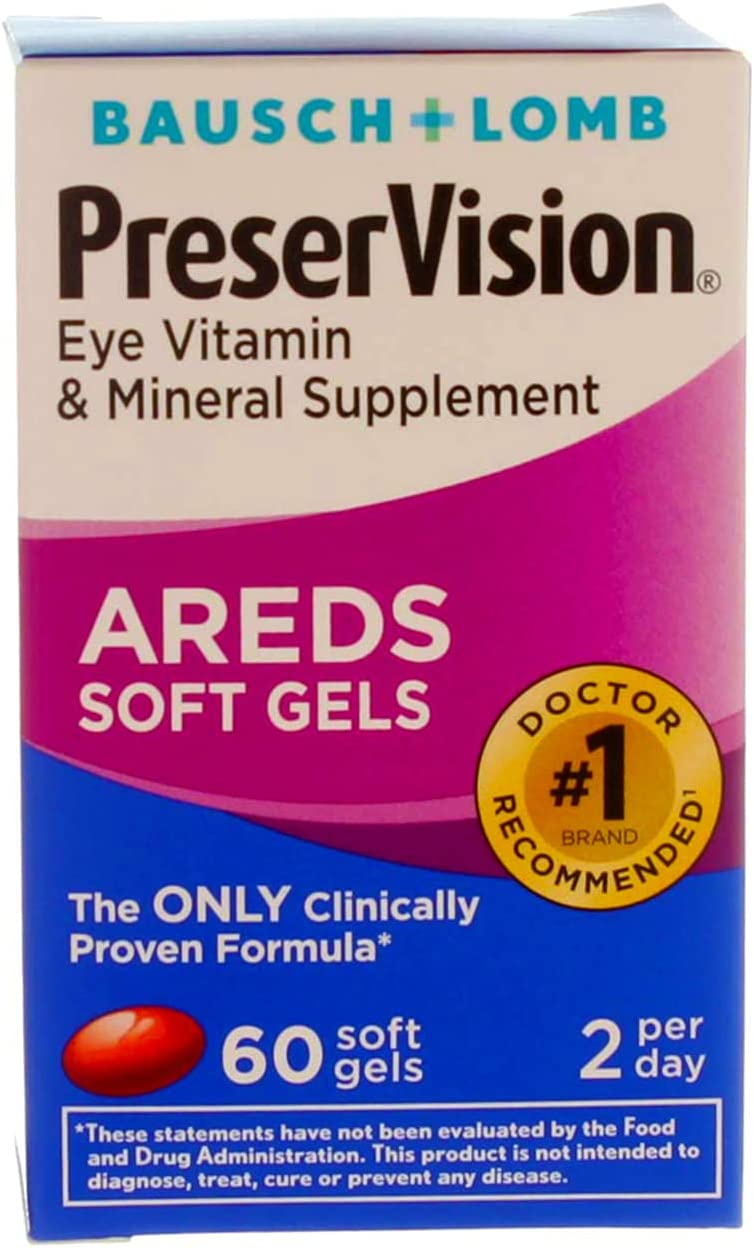 PreserVision AREDS Eye Vitamin & Mineral Supplement - 60 Softgels, Pack of 6