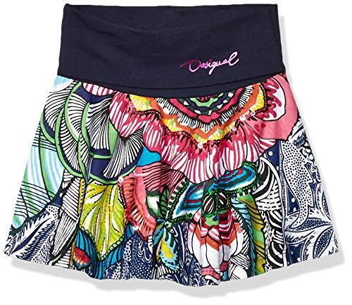 DESIGUAL Desigual Mädchen Girl Knit Skirt EVASE (FAL_SEGUR) Rock, Blau (Navy 5000), 104 (Herstellergröße: 3/4)