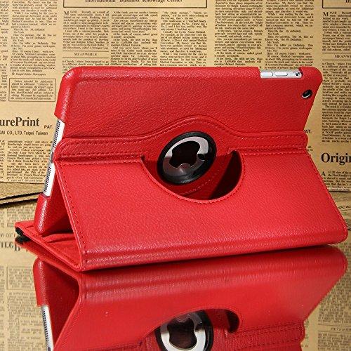 MEDIA WAVE store Cover Custodia iPad Mini Apple Compatibile Eco Pelle Rotante 360 Gradi Business (Rosso)