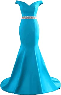 Women's Double V Neck Prom Dresses Off The Shoulder Mermaid Evening Formal Gowns