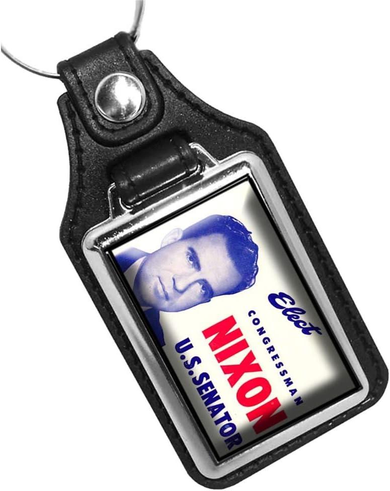 Brotherhood Elect Congressman Richrd M Nixon US Senator Keychain Key Holder Key Ring for Men Heavy Duty Car Keyring for Men and Women