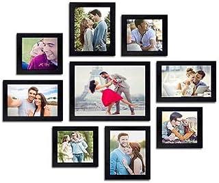 MAMRY ART CREATIONS Wall Photo Frame (4 Unit = 5 X 5 Inch, 4 Unit =7 X 5, 1 Unit = 8 X 10Inch) Set of 9