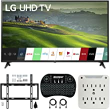 $620 Get LG 60UM6900 60-inch HDR 4K UHD Smart LED TV (2019) Bundle with Deco Mount Flat Wall Mount Kit, Deco Gear Wireless Backlit Keyboard and 6-Outlet Surge Adapter with Night Light