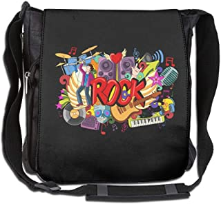 Eden Edies Rock Music Doodle Unisex Crossbody Bag Messenger Shoulder Sling Postman Bags