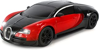 Diecast Bugatti Veyron Super Sport Electric Remote Control Car Metal Body 1:24 Scale Size Ready To Run RTR w/ Working Headlights (Colors May Vary)