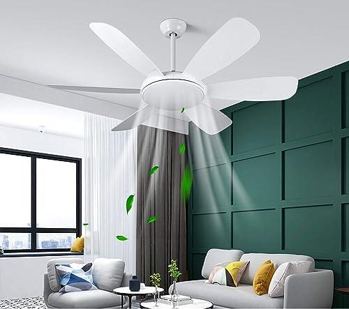 Albrillo Ventilateur de Plafond 2 en 1 - 132 cm Ventilateur de Plafond Ultra-Silencieux avec Lumière 3 Température de...
