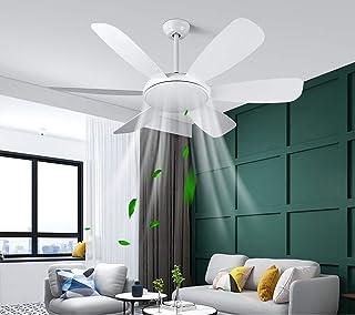 Albrillo Ventilateur de Plafond 2 en 1 - 132 cm Ventilateur de Plafond Ultra-Silencieux avec Lumière 3 Température de Coul...