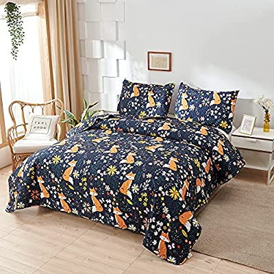 Amazon Promo Code for Fox Quilt Twin SizeBoys Cute Bedspread Coverlet Animal 09102021121358