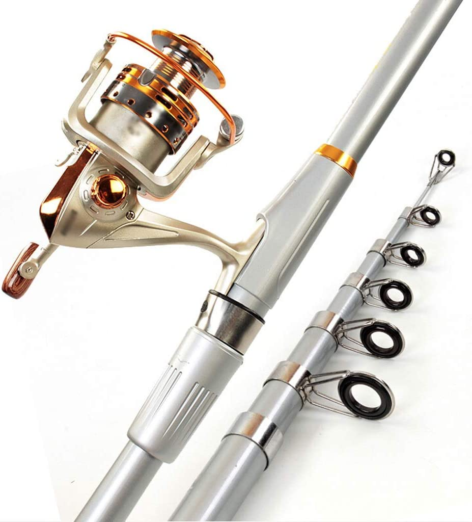 Telescopic Fees free Fishing Rod Pole low-pricing Se and Reel Combo