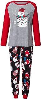 PowerFul-LOT Family Christmas Long Sleeve Snowman Printed Top+Pants Pajamas,Men,Women,Kid Print Blouse Tops and Pants Xmas...